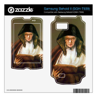 Old woman reading by Rembrandt Samsung Behold II Decal