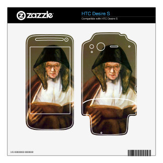 Old woman reading by Rembrandt Decals For HTC Desire S