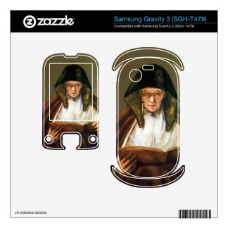 Old woman reading by Rembrandt Samsung Gravity 3 Skins