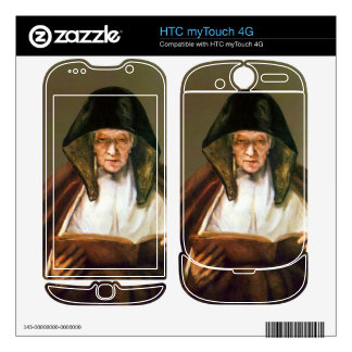 Old woman reading by Rembrandt HTC myTouch 4G Decals