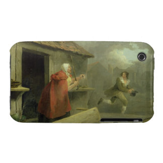 Old Woman Waving a Stick at a Boy, 1793 (oil on ca Case-Mate iPhone 3 Case