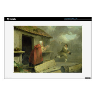 "Old Woman Waving a Stick at a Boy, 1793 (oil on ca Decal For 15"" Laptop"