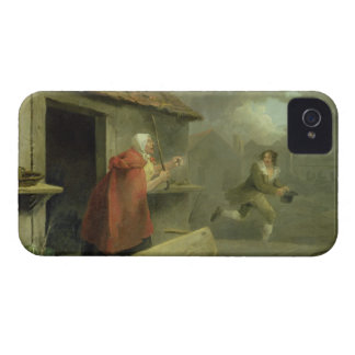 Old Woman Waving a Stick at a Boy, 1793 (oil on ca iPhone 4 Case-Mate Case