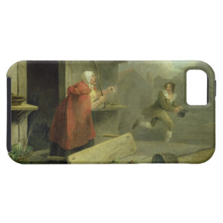 Old Woman Waving a Stick at a Boy, 1793 (oil on ca iPhone SE/5/5s Case