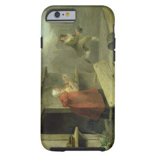 Old Woman Waving a Stick at a Boy, 1793 (oil on ca Tough iPhone 6 Case