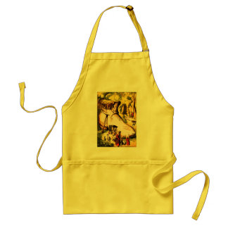 Old Woman Who Lived in a Shoe Adult Apron