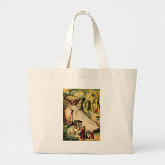 Old Woman Who Lived in a Shoe Canvas Bags