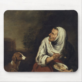 Old Woman with Dog Mouse Pad