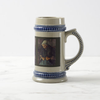 Old Woman With Rosary By Paul Cézanne Coffee Mugs
