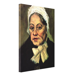 Old Woman with White Cap The Midwife by van Gogh Canvas Prints