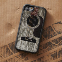 Old Wood Acoustic Guitar Tough Xtreme iPhone 6 Case