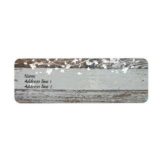 Old Wood Address Labels label