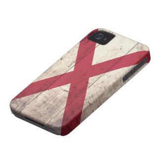 Old Wood Alabama Flag iPhone 4 Case-Mate Case