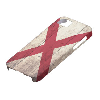 Old Wood Alabama Flag iPhone SE/5/5s Case