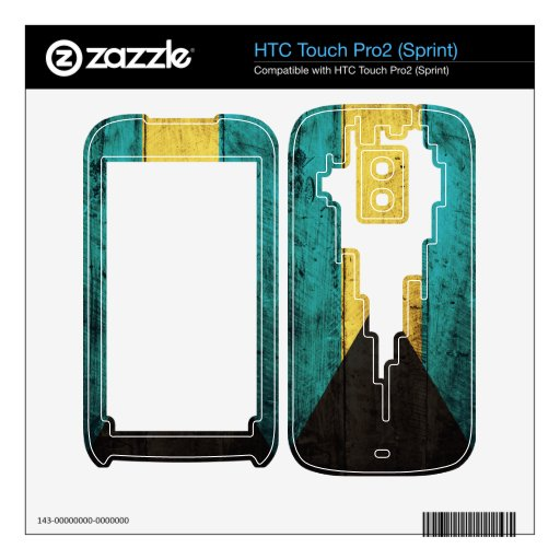Old Wood Bahamas Flag HTC Touch Pro2 Skin