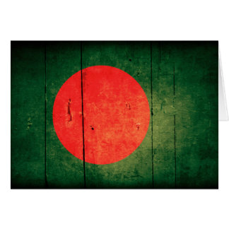 Old Wood Bangladesh Flag Card