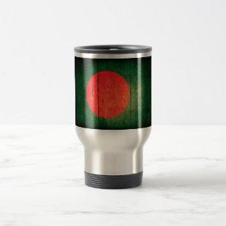 Old Wood Bangladesh Flag Coffee Mugs