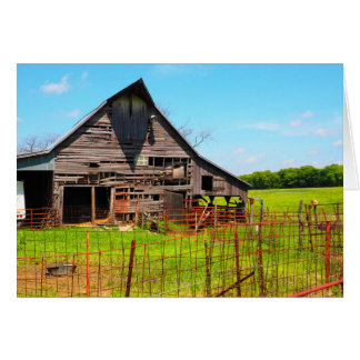 old wood barn card