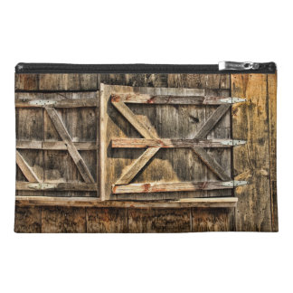 Old Wood Barn Window Doors - Travel bag