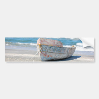 OLD WOOD BOAT 1083 PHOTOGRAPHY OCEAN TRANSPORTATIO BUMPER STICKER