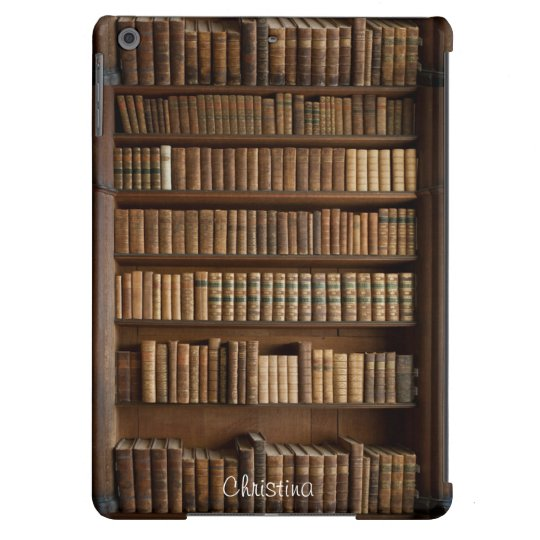 Old Wood Bookshelf And Books IPad Air Case