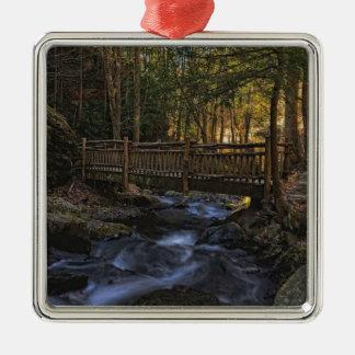 Old Wood Bridge Christmas Ornament