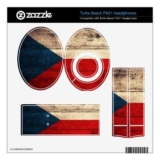 Old Wood Czech Republic Flag; Turtle Beach Px21 Skins