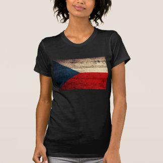 Old Wood Czech Republic Flag Tee Shirts