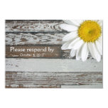 Old Wood Daisy RSVP with envelope Custom Announcements