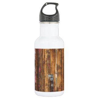 Old Wood Door With Six Red Hinges Stainless Steel Water Bottle