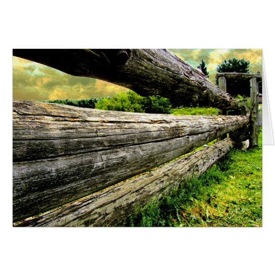 Old Wood Fence Card