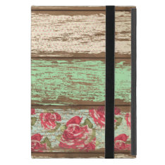 Old Wood Fence Retro Vintage Floral Personalized Case For Ipad Mini at Zazzle