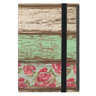 Old Wood Fence Retro Vintage Floral Personalized Case For iPad Mini