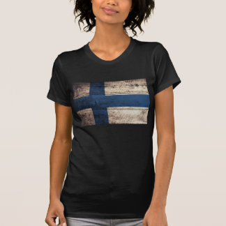 Old Wood Finland Flag T Shirt