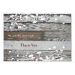Old Wood flat thank you card with envelope Custom Invites