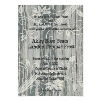 Old Wood Floral Ghost Wedding Invitations