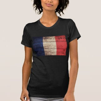 Old Wood France Flag T-shirts