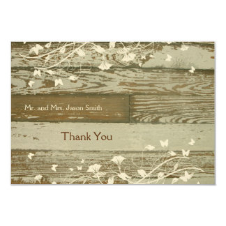 Old Wood gold tint thank you card with envelope