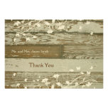 Old Wood gold tint thank you card with envelope Announcements