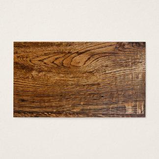 Old wood grain look business card