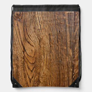Old wood grain look drawstring bag