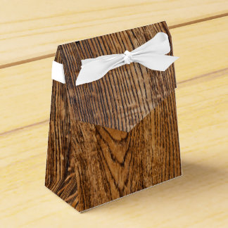 Old wood grain look party favor boxes