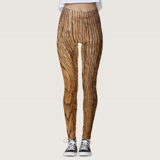 Old wood grain look leggings