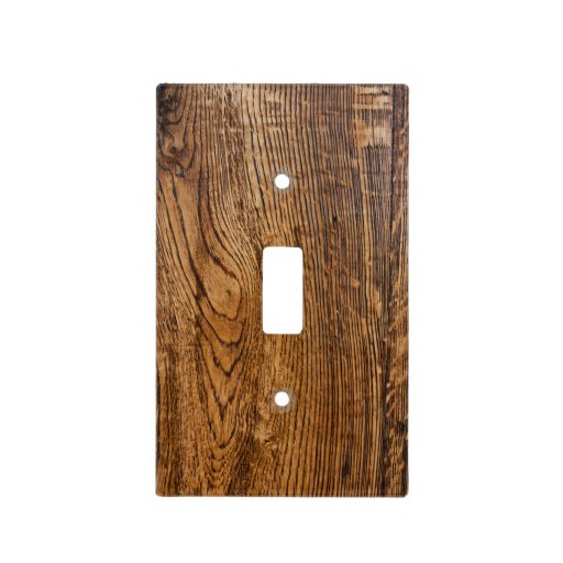 Old Wood Grain Look Light Switch Covers Zazzle