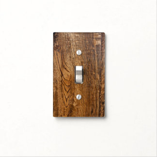 Old wood grain look light switch covers