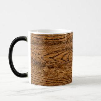 Old wood grain look magic mug