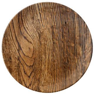 Old wood grain look plate