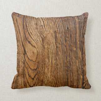 Old wood grain look throw pillow