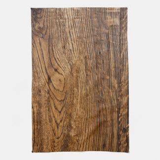 Old wood grain look towels