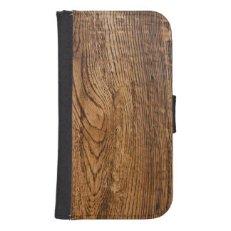 Old wood grain look wallet phone case for samsung galaxy s4